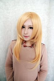 Wholesale Light Brown Lolita Wig - 100% Brand New High Quality Fashion Picture wigs>>Fashion Wigs Women Long Light Yellow Krista Lenz Cosplay Lolita Synthetic Wig