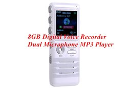 Wholesale Best Digital Recorders - Digital Voice Activated Recorder by Dictopro, Double Microphone HD Recording Metal Case Best Noise Cancellation Mic 8GB Dictaphone