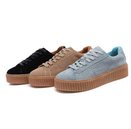 Wholesale New Woman Fashion Shoes Summer - 2016 NEW BASKET CREEPERS GLO RIHANNA SNEAKERS CASUAL WOMEN 'S SPORTS RUNNING JOGGING SHOES WOMENS FASHION CLASSIC SHOES 36-44