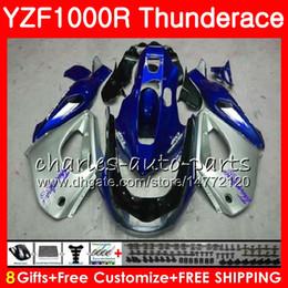 Yzf thunderace verkleidungen online-Gehäuse für YAMAHA Silver black Thunderace YZF1000R 96 02 03 04 05 06 07 84NO48 YZF-1000R YZF 1000R 1996 2002 2003 2004 2005 2006 2007 Verkleidung