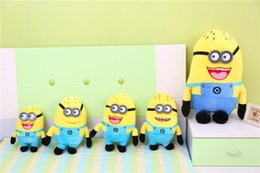 Wholesale Minion Toys Free Shipping - Minions 18 25 35 45cm Despicable Me Stuffed Animals Plush Toys October New Arrvial Hot Sale Birthday Gift Free Shipping