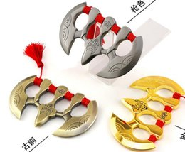 Wholesale Wolf Fingers - wolf Finger button ring Punch button Protective Gear finger tiger ring Powerful Outdoor safe Slingshot Velocity Hunting Catapult