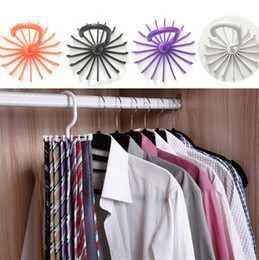 Wholesale Function Rotation - 4 colors Multi-function Originality necktie Hook White Plastic Hook Practical 360 degree Rotation folding necktie Hook IA637