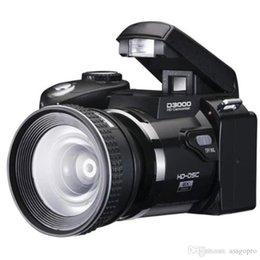 Wholesale Telephoto Video Camera - High Quality Polo Protax SLR D3000 16MP 3.0 TFT 8X Zoom Digital Camera HD Digital Video D3000 Telephoto digital camera