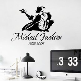 Wholesale Wall Stickers Dance - Jackson's dance sticker wall sticker home decoration DIY wall window door cupboard stickers removable wall stickers