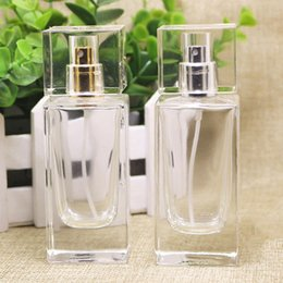 Wholesale Hot Stamping Perfume Atomizer - Hot Sale 50ml Perfume Crystal Glass Dropper Bottle, High Grade Cosmetic Glass Spray bottle With Gold Silver Atomizer