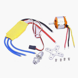 Wholesale Speed Motor Brushless - Wholesale-RC 2200KV Brushless Motor A2212 6T + ESC 30A Brushless Motor Speed Controlle