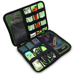 Wholesale Trunk Organizers - New Arrival Bubm Hard Drive Earphone Cables Usb Flash Drives Storage Travel Case Digital Cable Organizer Bag 5 colors DHL Free