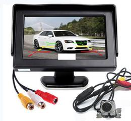 """Монитор для парковки онлайн-4.3 """" ЖК-монитор автомобиля вид сзади комплект + заднего хода датчик камеры парковки 170 мета"""