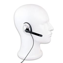 Wholesale Walkie Talkie Earpiece Black - Black 2 Pin Ear Bar Earpiece Mic PTT Headset for Motorola Radios Walkie Talkie GP300 GP308 C2074A