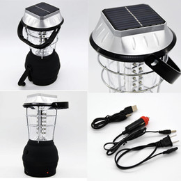 Wholesale Led Crank Light - 36 LED Power Hand Crank Solar Lantern Bright Rechargeable Outdoor Camping Light