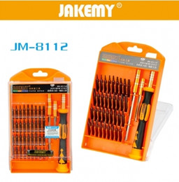 Wholesale Screw Driver For Iphone - F22441 JAKEMY JM-8112 Magnetic Screwdriver Set Mobile Phone Repair Tool Screw Driver Lot For Laptop Smart Cell Phone Tools