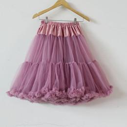 Wholesale Wholesale Tutu Women Plus - Wholesale Adult Petticoat Fashion high quality solid color dusty pink nylon long tutu skirt women tulle pettiskirt adult petticoat plus size