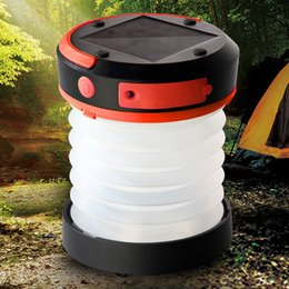 Wholesale Monocrystalline Solar Charger Mobile - Wholesale Handy Portable Adjustable Camping Lamp Solar Powered telescopic Lantern With Mobile Charger Low High SOS Model Outdoor Lighting