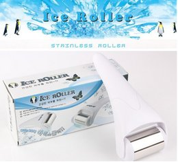 Wholesale Cold Roller - Cold Stainless Head Skin Massage Ice Roller Face and Body Massage Skin Rejuvenation facial skin and preventing wrinkles Skin cool
