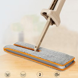 """Wholesale Basket Handles Plastic - Self-Wringing Double Sided Flat Mop Telescopic Comfortable Handle Mop Hotel Home Cleaning Tool 15""""X 4.7"""" (38cmx 12cm)"""