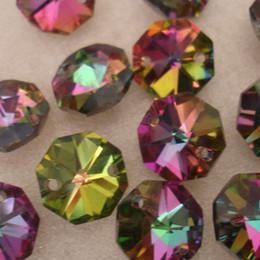 2019 ghirlande di perle di vetro 200pcs arcobaleno di colore 14 millimetri perline di cristallo ottagono perline ghirlande decorazione centrotavola matrimonio decorazione della casa sconti ghirlande di perle di vetro