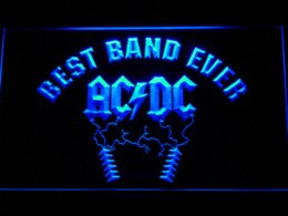 Wholesale Neon Sign Bands - 314 Best Band Ever ACDC LED Neon Sign with On Off Switch 7 Colors to choose Cheap sign of the cross movie