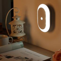 Confezione da 1pcs Intelligent Sensor LED Night Light Luce di emergenza PIR corpo Sensing Battery Operated Light Control da
