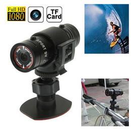 Wholesale Outdoor Sport Helmet Action Camera - 1080P F9 Mini Outdoor Riding Bike Helmet Sports Camera Professional Action Camera Camcorder Waterproof Outdoor Sports DV
