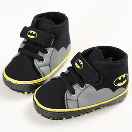 Wholesale Pink Bebe - Wholesale-2017 Spring Autumn Batman Hero Baby Boys Fashion Sneakers Soft Infant bebe Toddler Shoes First Walkers Indoor Slippers