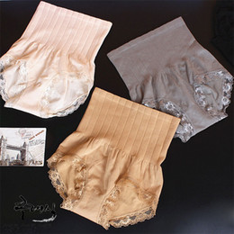 Wholesale high waist shaping underwear - 2016 Sale Panties String Japan's New Munafie Seamless High Waist Abdomen Micro Warm Palace Ladies Underwear Lace Shape Memory