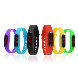 Wholesale Gel Led Watches - New Fashion Girl And Boy Children Led Watch Silica Gel Young Men And Women Lovers Sports Watches