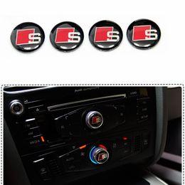 Linea di pannello online-Manopole decorative per pannello di controllo S Line Logo Sline Badge per autoadesivo refit interno l'etichettatura speciale per Audi