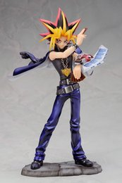 Wholesale Oh Cards - 20cm Cartoon Yu-Gi-Oh! MUTO YUGI Muto Cards King PVC Toys brinquedos anime Action Figure Collection