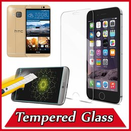 Wholesale Iphone Dhl Screen Guard - 9H Explosion Proof Premium Tempered Glass Screen Protector Film Guard For iPhone 7 6 6S Plus 5S HTC M9 plus LG G3 G5 Nexus 6 DHL MOQ:200pcs