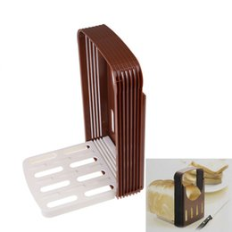 Wholesale Toast Bread Slicer - Brand New Bread Cut Loaf Toast Slicer Cutter Cutting Slice Slicing Guide Kitchen Tool E5M1 order<$18no track