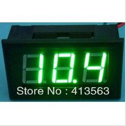 "Wholesale Bit Dc - Wholesale-0-9.99V DC Digital Display Voltmeter Three Bit Green 0.56 ""LED 0.01V Precision Voltage Meter 1pcs lot #00018"