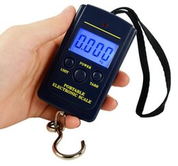 Wholesale Lcd Luggage Scale - 400pcs 40Kg Digital Scales LCD Display hanging luggage fishing weight scale