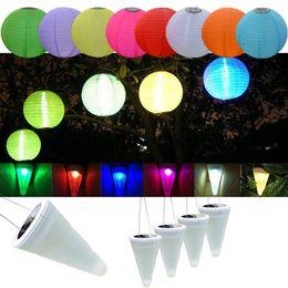Lampade da balcone online-Sloar luci lanterna IP55 lanterna cinese albero esterno lampadari lampada da balcone Luci colorate Lanterne a LED