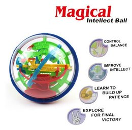 Wholesale Games Steps - Free shipping 100 Steps 929A Puzzle ball Small Educational Magic Intellect Ball Marble Puzzle Game perplexus magnetic balls