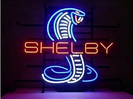 """Wholesale Real Cobra - Brand New Shelby Cobra Real Glass Neon Sign Beer light 36""""X24"""""""