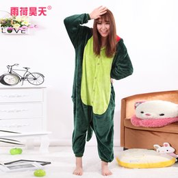 Wholesale Dinosaur Pajamas Adults - Dinosaur Animal Cartoon Siamese Pajamas Comfortable Keep Warm Winter Women Sleepwear Onesies for Adults Home Clothing