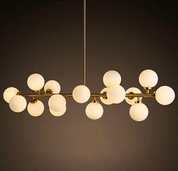 Wholesale Modo Light - Modo chandelier LED creative modo DNA pendant light 16 18 Globes glass lampshade chandelier LED lighting fixture