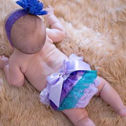 Wholesale Tutu Skirt Bloomers - 15% off! Newborn 0-3 Years Baby Satin Ruffle PP Shorts Pants Children Bowknot Bloomers Skirt Diaper Cover 6pcs(3pcs pants+3pcs hairbands)