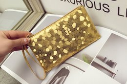 Wholesale Wholesale Patchwork Wallets - Fashion Women wallet clutch bag PU leather women envelope bag evening bag female Clutches Handbag purse