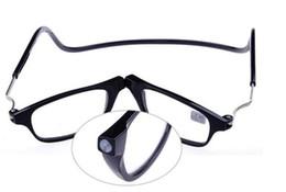 Wholesale Reading Glasses Women - Wholesale-2016 Magnetic Reading Glasses With Diopter +1.0 +1.5 +2.0 +2.5 +3.0 +3.5 +4.0 Men Women Spectacles Old People 2 colors