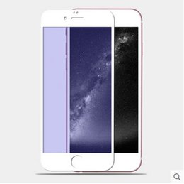 Wholesale Iphone Color Glass Screens - For Iphone 5 6s 6 6plus color plating tempered glass mirror colorful front and back screen protector cellphone colorful film