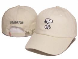 Tapa de cacahuetes online-2016 Cartoon Snoopy Peanuts Snapback Sombrero camionero viseras Cap LOVE figureBird peces bordado Comic Gorras de béisbol Bone Golf Hat Gorras Chapeau