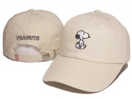 Wholesale Green Trucker Cap - 2016 Cartoon Snoopy Peanuts Snapback Hat Trucker Visors Cap LOVE figureBird fish Embroidery Comic Baseball Hats Bone Golf Hat Gorras Chapeau