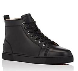 leopardo impressão flats apontou dedo Desconto 2018 projeta os homens moda sapatos vermelho inferior sapatilha sapatos de festa de casamento de luxo couro genuíno Louisfalt Spikes Lace-up Sapatos Casuais Preto Whi