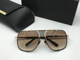 Wholesale Vintage Titanium - brand designer sunglasses for men mach five vintage stryle top quality sun glasses mens brand designer UV400 protection men sunglass and box