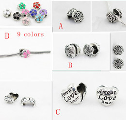 Wholesale Metal Stopper Beads - Silver plated Metal Clips Lock Stopper Safety buckle locket charms beads European Beads Fit Chain DIY Bracelet Jewelry Findings