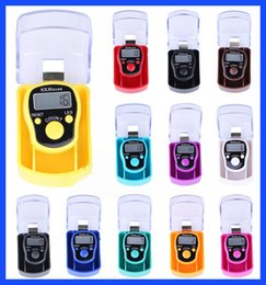 Wholesale Tally Clicker Digital - Box-packed Handheld Manual LED 5136 1040 Tally Counter Clicker Electronic Row Counter Finger digital LED electronic Tally Counters 12 colors