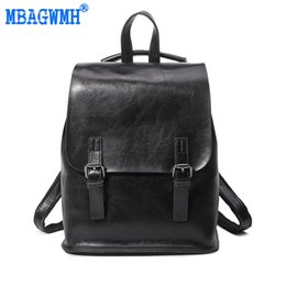 Wholesale Locked Belts For Women - MBAGWMH Brand Vintage Backpack Genuine Leather Women Backpack Belts Female Back Pack Casual Shoulder Backpack for Girls