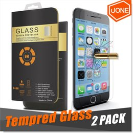 Wholesale Iphone Packs - For iPhone X 8 7 S7 2 Packs Screen Protector iPhone 6 6s Plus Tempered Glass For Samsung Note 5 3D Touch Compatible 0.26mm 2.5D Rounded Edge